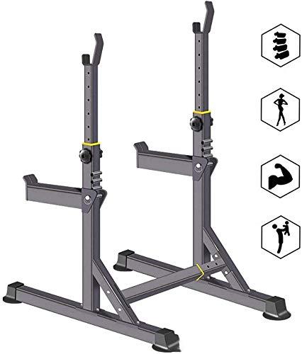 AMITD Squat Rack-Ständer Bench Press-Rahmen Fitness Sportartikel Startseite Gewicht Barbell Unterstützung Multi-Funktions-Pull-Ups Einzel Barren,Metallisch