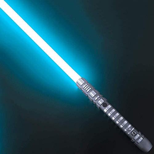 YLME Sable Luces Star Wars Que Brilla Intensamente Juguete Juguete Metal Extraíble USB Carga Ligera Láser Espada para Niños Brillante Regalo Juguete Cosplay Juguete,Light Blue,38.5Inches