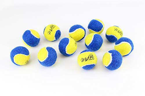 Midlee XSmall Dog Tennis Balls 15quot Pack of 12 Blue/Yellow 15 inch