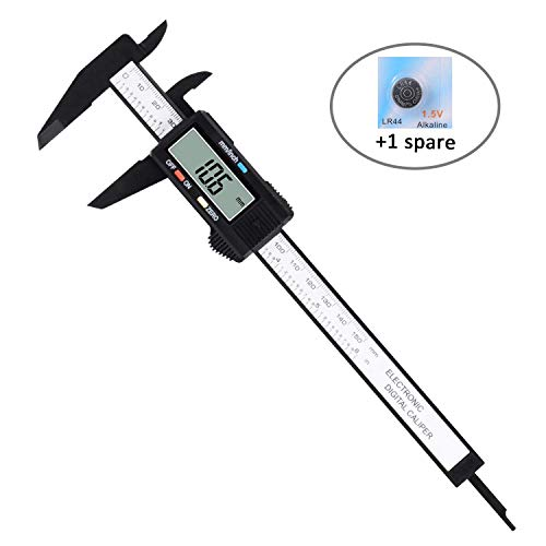 Adoric Electronic Digital Caliper, Vernier Calipers with Inch/MM Conversion, LCD Screen Auto Off Featured Caliper Measuring Tool, 0-6 Inch/150 mm