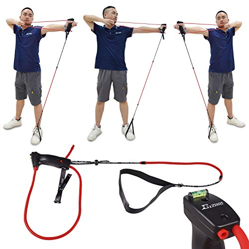 Archery Bow Trainer, Archery Draw Training Aid Strength Training, Anti-Break Latex Resistance Bands, Archery Exerciser Training Device for Recurve Bow Compound Shooting Kids Adults Beginner Experts