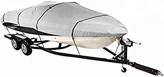 Odthelda Boat Cover 24FT Waterproof Boat Cover, Grey,Fits V-Hull,Tri-Hull, Runabout Boat Cover,24ftx102in