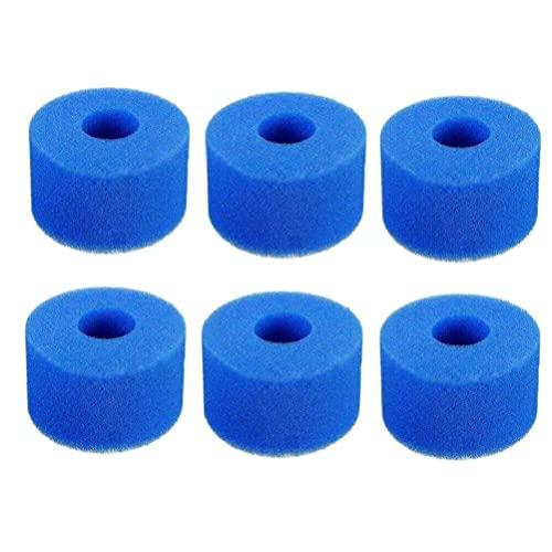 Filtrar esponja, esponja de esponja de filtro de piscina para filtro de bañera de hidromasaje 10.8x7.3x4cm 6pcs