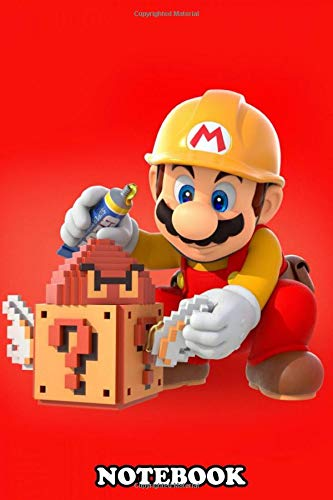 Notebook: Super Mario Maker Artwork , Journal for Writing, College Ruled Size 6' x 9', 110 Pages