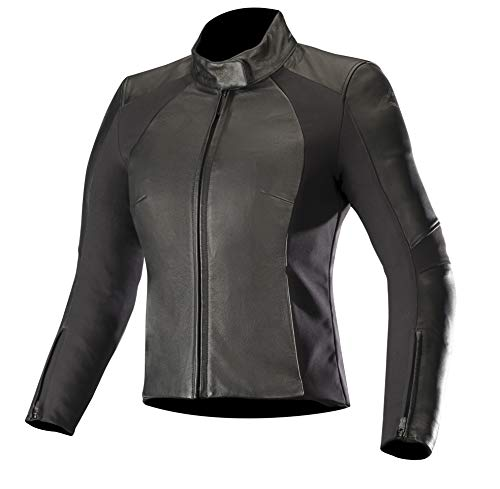 Alpinestars Motorradjacken Vika V2 Womens Leather Jacket Black, Schwarz, 42