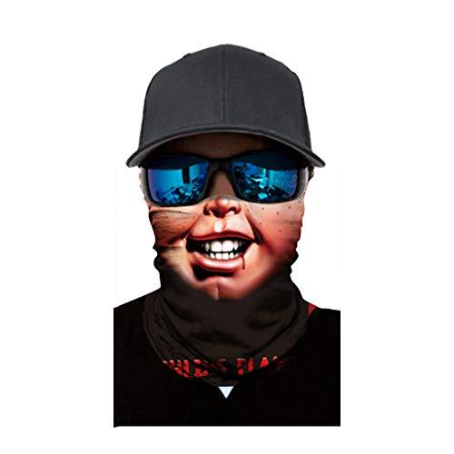 cinnamou Multiunktionstuch Maske Schal Kälteschutz Gesichtsmaske Fishing Totenkopf Schal Skull Bandana Gesichtsmaske Halstuch Ski Motorrad Paintball Halloween Maske (25CM X 50CM, L)