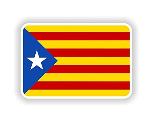 Pegatina Bandera Cataluña Vinyl Vinilo Adhesivo Sticker stiker Casco Moto Bike Bici