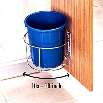 Planet High Grade Stainless Steel Bin Holder/Dust Bin Holder/Modular Kitchen Fixture (Dia 10 Inches)