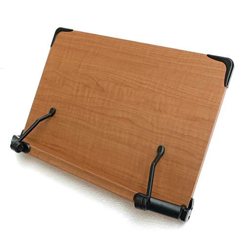 2017年新型 見やすい角度に14段階調節 木製ブックスタンド 標準サイズ(35×24cm) 折りたたみ式 書見台 タブレット台 (メーカー直輸入品)