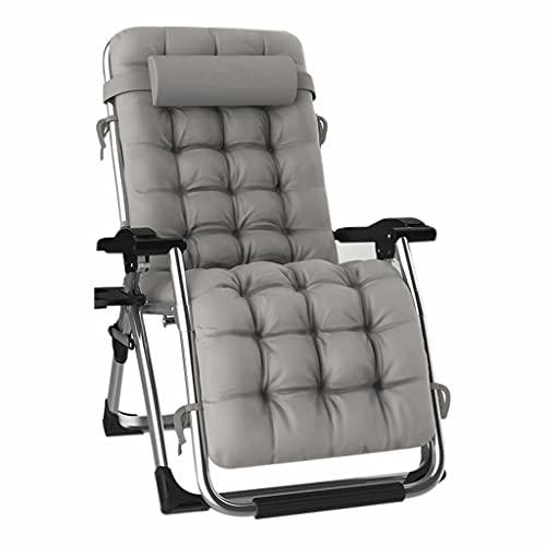 YZX Sillas de Cubierta Plegables, sillón de salón portátil para Interiores y Exteriores, para Patio jardín Almuerzo Playa Camping tumbonas (con Taza/Almohada)