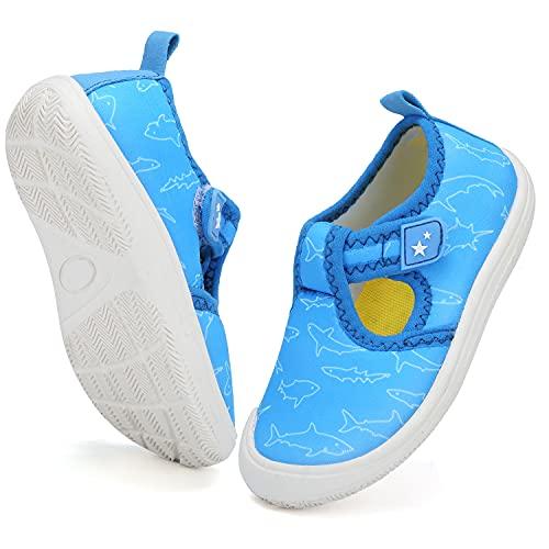 VTASQ Scarpe da Immersione Scarpe da Mare da Spiaggia Ragazzo Ragazza Asciugatura Rapida Scarpe da Surf Scarpe da Nuoto Scarpe Sportive d'Acqua Bambini Unisex Blu-1 25EU