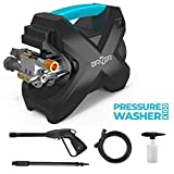 BRIZER X100 Compact Electric Pressure Washer 2200 PSI, 1.6 GPM Power Washer with Spray Gun and Foam Cannon, 15ft High Pressure Hose, Light Weight and Portable