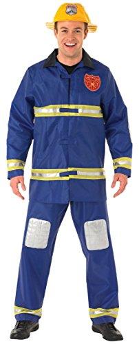 Rubbies - Disfraz de bombero adultos, talla L (889502L)