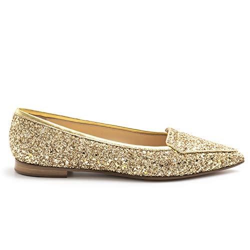 PROSPERINE Damen-Spitzenschuh Glitter Gold - 7783 Glitter Lam Gold - Gr., Gold - gold - Größe: 38.5 EU