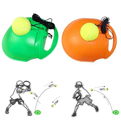 JUSTDOLIFE 2 Sätze Tennis Trainer Selbststudium Tennis Training Tool Rebound Baseboard mit Ball
