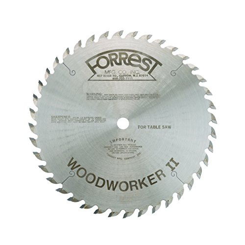 Forrest T20779 - Woodworker II 10' x 5/8' 40T #1 Grind .125...