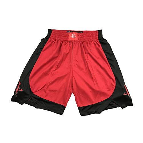 Herren Basketball Trikot Rockets #0 Westbrook Ärmellose Weste Tops Jersey Atmungsaktiv Sport T-Shirt Fan Outdoor Basketball Shorts (S-XXL) Gr. XXL, Shorts-rot-1