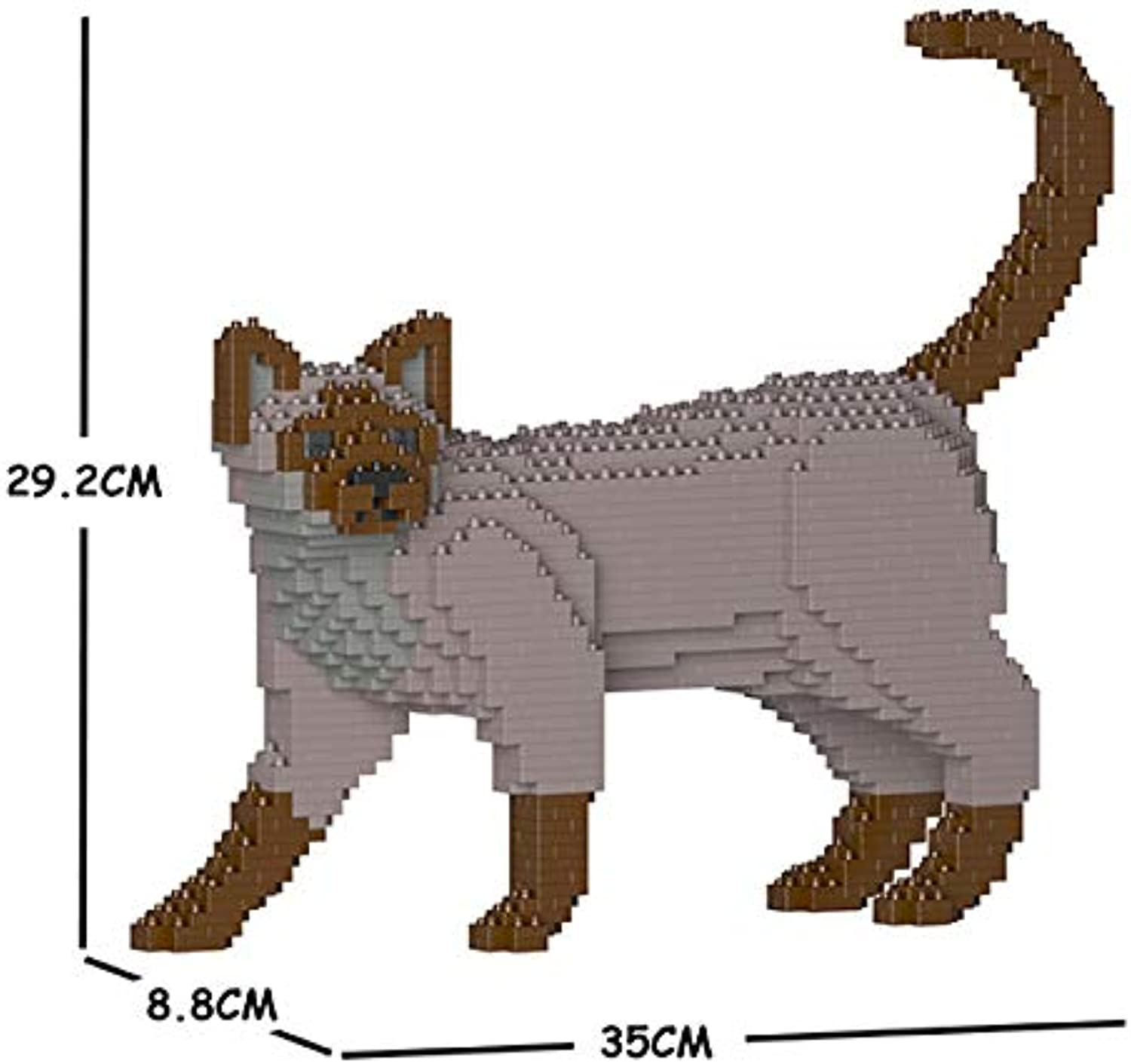 ahorrar en el despacho JECKA Animal Building Building Building Blocks for Kidults Tonkinese Cat 02S-M01  ganancia cero