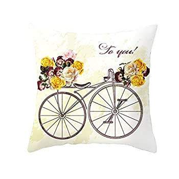 Valentine s Day Pillow Case Love Heart Car Bicycle Sofa Bed Throw Cushion Cover Home Decor  18   X 18   L