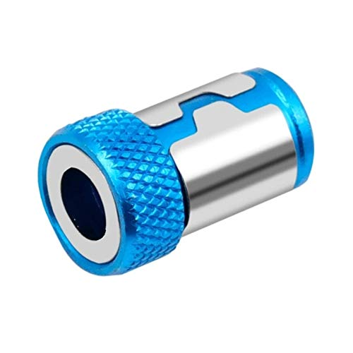 WMSS Dowou Anillo magnético Universal 1/4 Pulgada Metal Destornillador bit Anillo magnético, Utilizado para 6.35mm bit bit Magnet Ring Fuerte Juego de Destornilladores (Color : Blue)