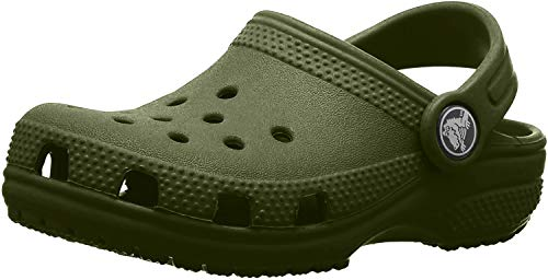 Crocs Classic Clog Kids Roomy fit, Zuecos Unisex niños, Verde (Army Green 309), 34/35 EU