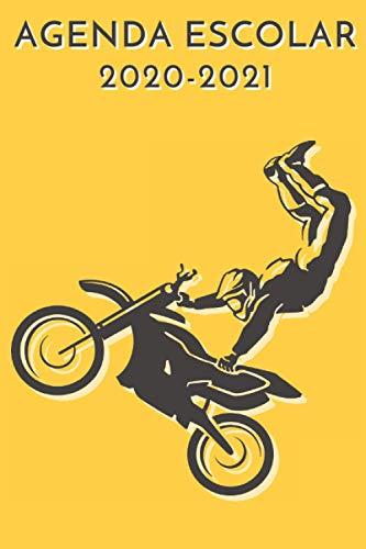 agenda escolar 2020-2021 motocross: agenda moto 2020 2021 - agenda 2020 2021 semana vista - Septiembre 2020 a Sep 2021 - calendario - planificador semanal a5 - Colegio - secundaria - estudiante