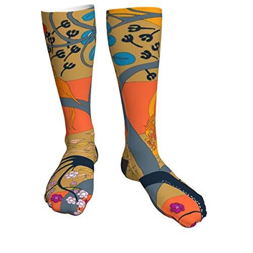 KCOUU Hunde-Socken, für Erwachsene, Unisex, dick, niedlich, sportlich, zum Wandern, Spazierengehen, Outdoor-Socken