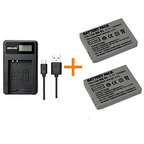 2 pezzi 1200mAh NB-5L NB5L Batteria con caricabatterie singolo per Canon PowerShot SX210 SD990 IS SX230