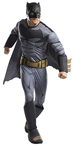 DC Comics - Disfraz de Batman Deluxe para hombre, Talla nica adulto (Rubie's 820749)