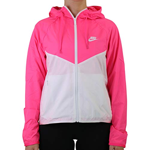 Nike Sportswear Windrunner - Chaqueta para mujer, color rosa Rosa (Hyper Pink/White) XL