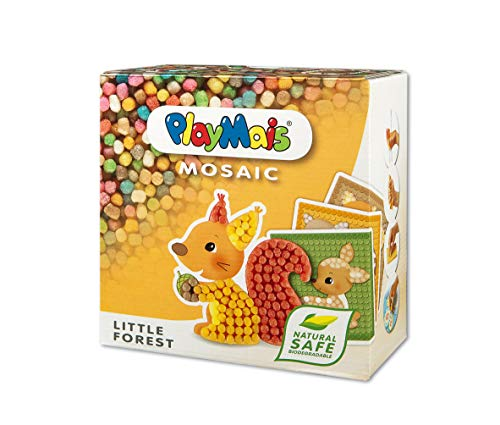 PlayMais Mosaic Little Forest Kreativ-Set zum Basteln für Kinder ab 3 Jahren |...