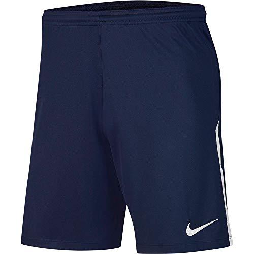 NIKE Y NK Dry Lge Knit II Short NB Sport Shorts, Niños, Midnight Navy/White/White, XL