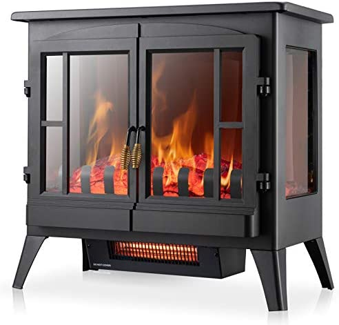 Xbeauty Electric Fireplace Stove Freestanding Fireplace Heater with Realistic Flame Indoor Electric product image