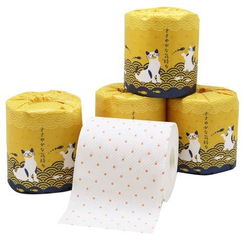 イトマン ネコ 水玉 トイレットペーパー ささやかな気持ちトイレット1R27.5mW60ロールセット【ギフト/ノベルティ/粗品/プレゼント】