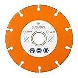 Navaris 1x Disco Smerigliatore Ø125mm - Lama Circolare Smerigliatrice Angolare - Mola Fru...
