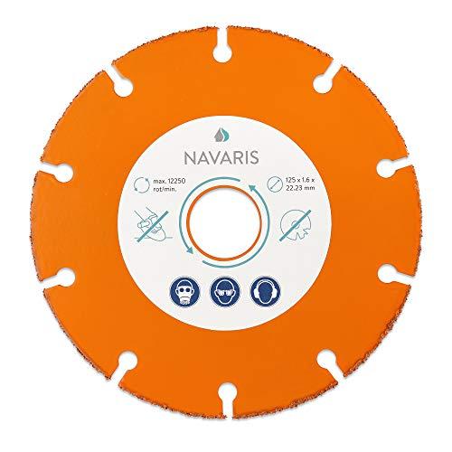 Navaris 1x Holzschneider Disc für Winkelschleifer - 125mm Kreissägeblatt - Trennscheibe Sägeblatt für Holz Kunststoff Epoxidharz Kupfer