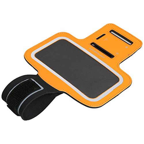 Ultrasport con Compartimento para teléfono móvil Funda Brazalete de Neopreno, Unisex, Verde, 5 Pulgadas