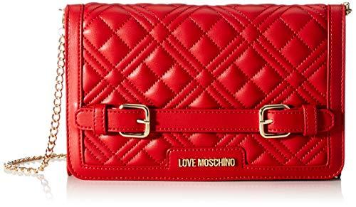 Love Moschino Precollezione SS21 | Borsa a Tracolla Trapuntata PU da Donna, Spalla, Rosso, Normal