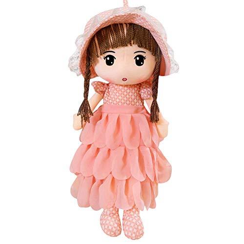 MuñEca Detrapo, MuñEca De Trapo Esponjosa, Peluche Regalo De NiñA Juguete De Peluche Cute Little Girls Dolls Companion Toys para Regalos De CumpleañOs De Navidad (40cm, Rosa B)