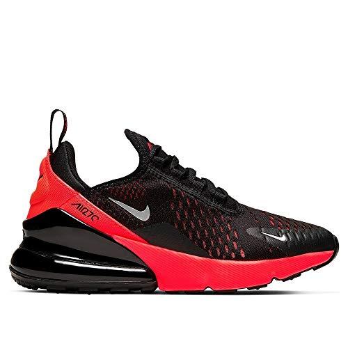 Nike Air Max 270, Scarpe da Corsa, Black/Reflecting Silver/Bright Crimson, 38 EU