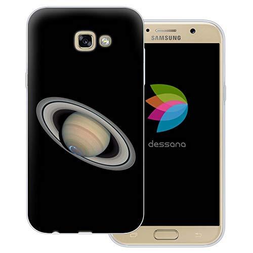 dessana Planeten transparente Schutzhülle Handy Case Cover Tasche für Samsung Galaxy A7 (2017) Saturn