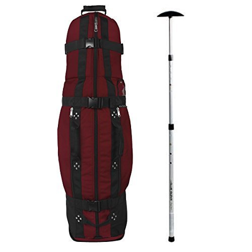 Club Glove Last Bag Collegiate Golf Travel Cover w/Free Stiff Arm (Burgundy)