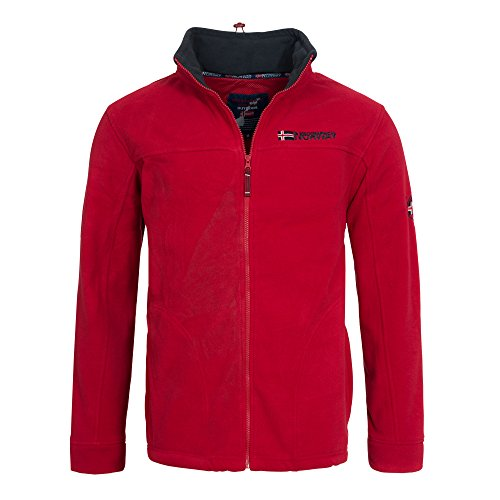 Geographical Norway TEXAS Herren Fleece Jacke Fleecejacke Gr. S-XXXL, Größe:XL;Farbe:Rot