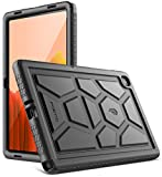 Poetic TurtleSkin Series for Samsung Galaxy Tab A7 Case, 10.4 inch SM-T500/T505/T507 (2020 Release), Heavy Duty Shockproof Kids Friendly Protective Silicone Cover, Black