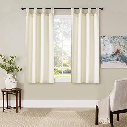 GIRASOLE Par de cortinas semiopacas de color liso para salón, dormitorio, balcón, ventana e interior, 2 paneles con trabillas (70 x 150 cm)