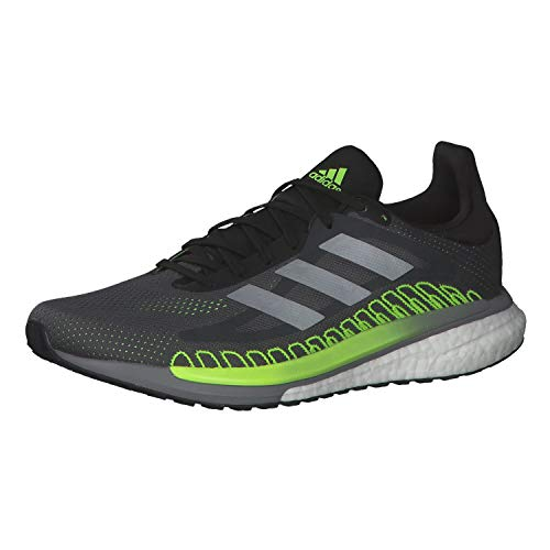adidas Solar Glide St 3, Zapatillas de Atletismo para Hombre, Grefiv/Silvmt/Siggnr, 46 2/3 EU