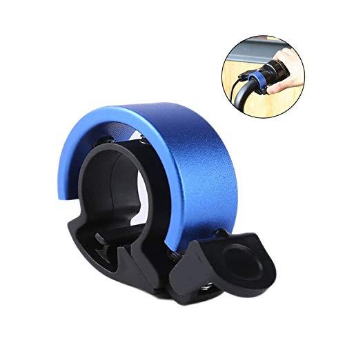 JIASHA Fahrradklingel Fahrradglocke Radfahren, O Design Fahrradglocke, für Alle Fahrräder für Lenker 22.2-31.8mm, Hellen und Lauten Klang, Einfache Montage (Blau)