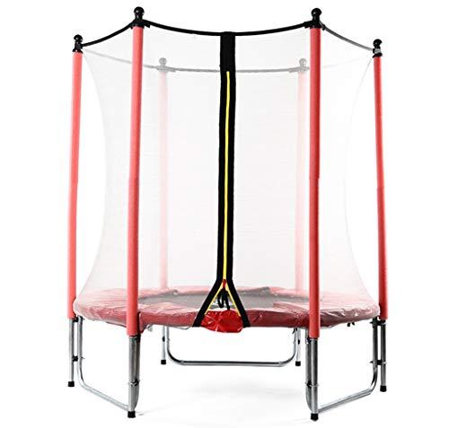 LKFSNGB trampoline voor kinderen met veiligheidsbescherming, verzinkt staal, ideaal voor tuin, binnen en buiten, voor kinderverjaardagen, 140 cm