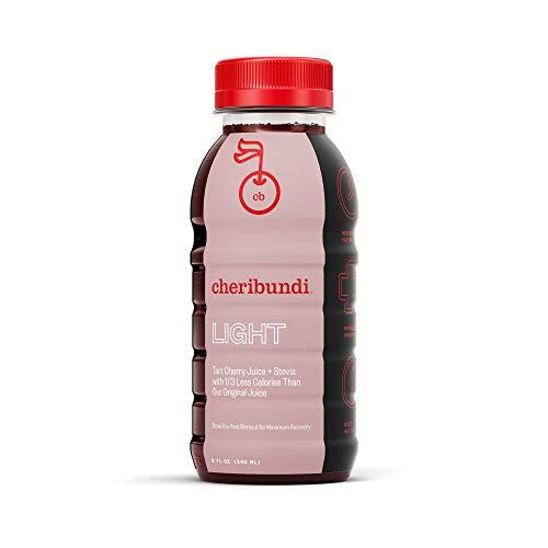 Cheribundi LIGHT Tart Cherry Juice – 40 Tart Cherries and 80 Calories Per 8oz. Serving (Pack of 12), Low Sugar Tart Cherry with Stevia, Reduce Soreness, Recover Faster, Boost Immunity, Improve Sleep