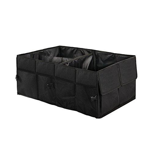 Boonor 2-in-1 faltbare Tasche Auto Kofferraumtasche Aufbewahrung für Auto, SUV, Minivan, Truck & Anwendungen